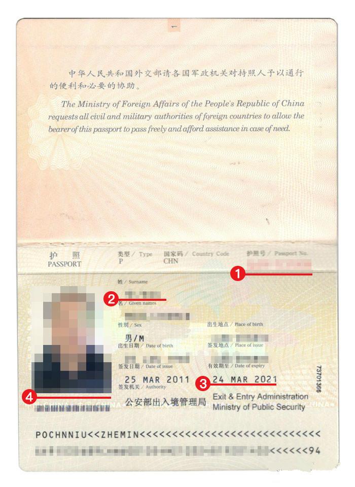 尼日利亚签证护照模板